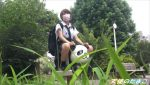 公園でパンダ遊具に跨った円光J●がカラオケBOXでチンポに跨りパン!パン!!パン!!!